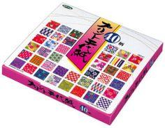 Origami - Loisirs Créatifs - Papier Origami à Motifs (Chiyogami) - Print Chiyogami - Coffret de 40 Motifs Assortis - 5 Feuilles de chaque - 200 Feuilles au total - 15cm x 15cm de Générique, http://www.amazon.fr/dp/B001EJO26E/ref=cm_sw_r_pi_dp_5JErtb0WXEB3D