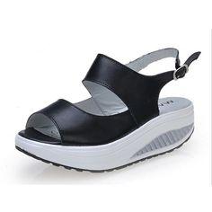 Rumbidzo 2017 Summer Women Sandals Peep Toe Swing Shoes Ladies Platform Wedges Sandals Woman Sandalias Zapatos size35- 43