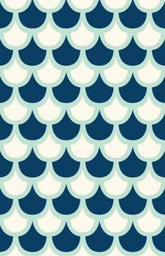 Scallop Pattern Print by Krysti Kalkman.