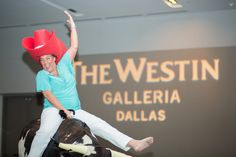 Guests had a great time riding a mechanical bull at an event held at the Westin Galleria, Dallas. Mechanical Bull, Dallas
