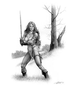 Bring On The Fight by Larry Elmore.