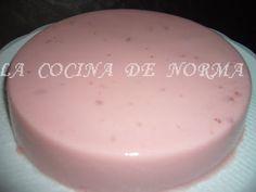 Gelatina de yogurt sabor fresa