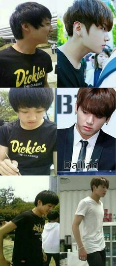 Jungkook then and now
