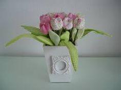 Resultado de imagem para flor de tecidos