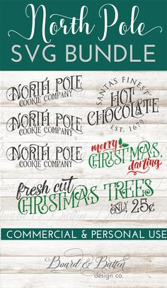 Create a whole set of fun Christmas home decor with the North Pole SVG File Bundle. These designs are perfect for home decor projects like throw pillows, decorative signs. and festive Christmas apparel... all made with your Silhouette or Cricut vinyl machine. Includes commercial use license, of course ❤️