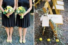 Daniel + Laura - Once Wed Black Bridesmaids, Bridesmaid Dresses, Wedding Blog, Wedding Decor, Rustic Wedding, Wedding Stuff, Wedding Ideas, Yellow Bouquets, Aisle Style