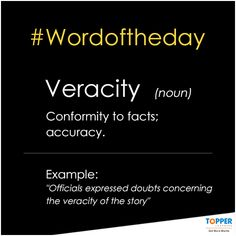 Veracity Principle that incorporates always telling the complete truth or not intentionally deceiving or misleading patients. Word Of The Day, Sentences, More Fun, Cool Kids, Nursing, Facts, Frases, Breast Feeding, Nurses