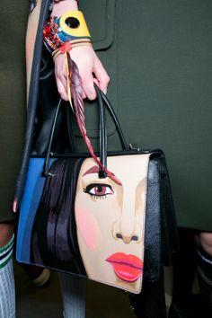 The wicker handbag trend nailed, with the bonus of tiny tropical ...