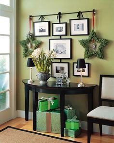 Loving the star wreaths, and what a great alternative to a Christmas tree.
