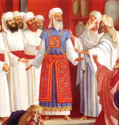 The origin of the Levite gown, High Priest with the other Levite Priests. Israel History, Ancient History, Priestly Garments, Tabernacle Of Moses, Priest Costume, Biblical Costumes, Masonic Art, Biblical Hebrew, Moise