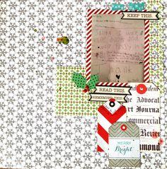 Jennie Blaser's All is Bright Scrapbook Circle Kit Idea