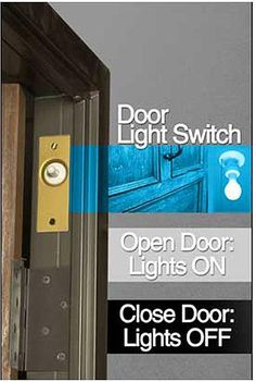Automatic closet door light. Gardner Bender 10 Amp Single-Pole AC/DC Push Button Door Switch $14.99 / each Home Depot.
