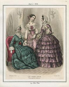 Casey Fashion Plates Detail | Los Angeles Public Library Le Bon Ton Date:  Friday, April 1, 1853