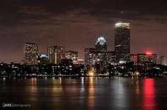Boston Skyline, taken from Longfellow Bridge  by Joits, via Flickr