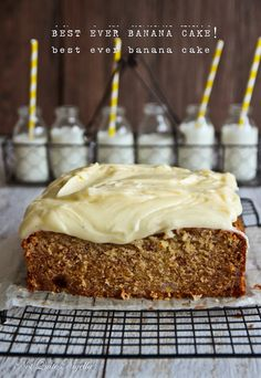 Best Banana Cake Recipe @ Not Quite Nigella Delicious Cake Recipes, Sweet Recipes, Yummy Food, Pineapple Recipes Pork, Best Ever Banana Cake, Afternoon Tea Recipes, Nutella Cake, Just Cakes, Pumpkin Recipes