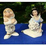 Lenox Disney Snow White & Grumpy Salt & Pepper Shakers