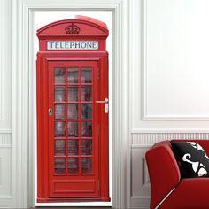 Sticker porte cabine téléphonique
