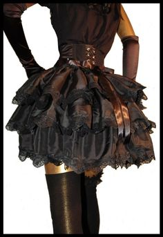 TO THE DEVIL A DAUGHTER Burlesque Gothic Steampunk Victorian Show Bustle, Shrug or Capelet