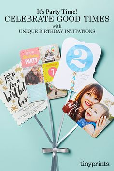 It's a birthday bash! Get inspired for your next kid's birthday party with these stylish invitations. Make Birthday Invitations, Personalized Birthday Invitations, 1st Birthday Invitations, Create Birthday Card, Birthday Cards, Girl Birthday, 90th Birthday, Birthday Ideas, Joint Birthday Parties