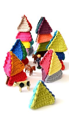 ".,..make these with the kids, a great ""1st Knitting Project""."