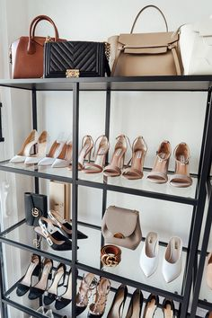 Fashion Jackson Handbag Shoe Collection Closet Office Shelf Storage - { my style } Bag Closet, Closet Office, Shoe Closet, Office Shelf, Closet Space, Handbag Display, Shoe Display, Handbag Storage, Shoe Storage