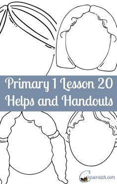 Grab these fun handouts and helps for LDS Primary 1 Lesson 20: I am thankful that I can smell and taste