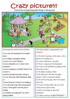 Describing a Picture worksheet - Free ESL printable ...