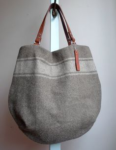 Vintage Wool Army Blanket Tote. by Snootsie