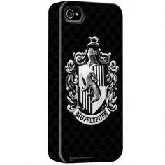 Harry Potter Black and White Hufflepuff Crest iPhone Case