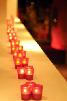 Warm and intimate candlelight
