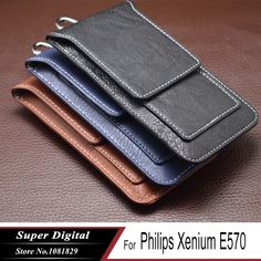 Case For Philips Xenium E570 luxury pouch PU leather phone flip multifunctional cover phone holster mobile phone bag //Price: $8.83//     #shop