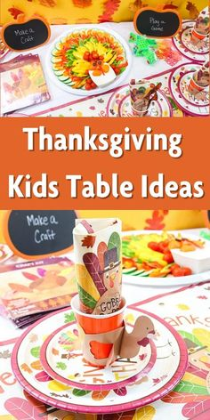 Make the kids' table something special this year with these Thanksgiving ideas they will love! #thanksgiving #kidstable #thanksgivingtable