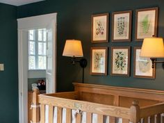 Erin Napier Creates a Magical and Elegant Nursery for Baby Helen — HGTV Home Town Hgtv, Erin Napier, Wooden Cribs, Baby Changing Tables, Nursery Modern, Modern Nurseries, Little Girl Rooms, Decorating Your Home, Decorating Ideas
