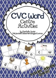 CVC Word Cards (re-usable)