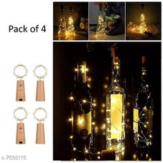 Lights Cork Led String Warm Lights (Pack of 4) Material: Plastic Pack: Multipack Cable Length: 2 M Country of Origin: India Sizes Available: Free Size   Catalog Rating: ★4.2 (1327)  Catalog Name: Classy Indoor String Lights CatalogID_1228753 C127-SC1620 Code: 682-7593115-996
