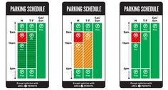 Visually differentiating timed versus unlimited parking… Wondering if it needs differentiation at all?