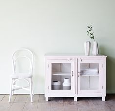 A clean and fresh look with Pastel Green & White.  #living #contemporary #home