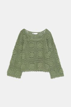 Kurzer Pullover in limitierter Auflage - узоры Irish Crochet, Crochet Lace, Crochet Stitches, Crochet Patterns, Irish Lace, Crochet Cardigan, Crochet Clothes, Cardigans For Women, Knitwear