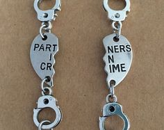 This listing is for a 2 bracelet set perfect for partners in crime Each bracelet measures 7 inches but can be altered on request. Please convo me to let me know if you would like any variations Bff Birthday Gift, Birthday Gifts For Best Friend, Best Friend Gifts, Gifts For Friends, Best Friends, Birthday Quotes, Best Friend Stuff, Happy Birthday, Bff Necklaces