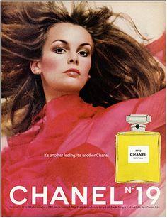 vintage fashion ad  chanel No. 19