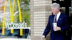 fast food bill clinton mcdonalds