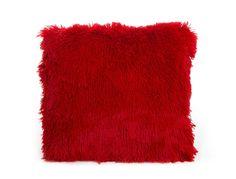 Chlpatá obliečka na vankúš červenej farby cm Throw Pillows, Bed, Toss Pillows, Cushions, Decor Pillows, Beds, Decorative Pillows