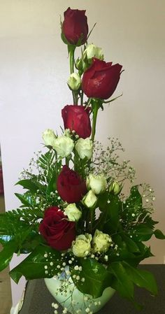 Discover recipes, home ideas, style inspiration and other ideas to try. Valentine Flower Arrangements, Tropical Flower Arrangements, Church Flower Arrangements, Church Flowers, Valentines Flowers, Rose Arrangements, Beautiful Flower Arrangements, Funeral Flowers, Beautiful Flowers