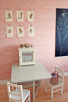 10 KIDS ROOMS WITH WALLPAPER -This one is so sweet!