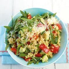<3 Recipe: Weizen Risotto mit Paprika und Zuchini