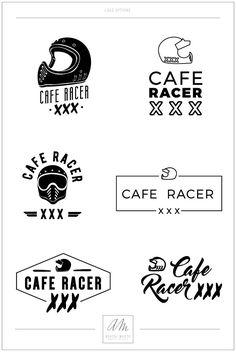 Aurore Maxon Design Cafe Racer XXX logo rebranding branding Bell moto 3 helmet