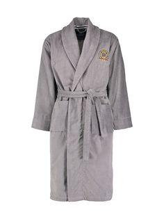 Rennossa puuvillaveluuritakissa on pehmeä pinta ja logobrodeeraus miehustassa. Solmi takki nyöreillä kiinni ja ota rennosti.