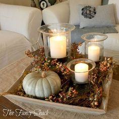 30 Pretty Candle Decoration Ideas for Thanksgiving 30 Pretty Candle Decoration Ideas for Thanksgiving ~ so many beautiful ideas! More from my site Easy Fall Table Centerpieces – Harvest Centerpieces for Fall Decor {Thanksgiving Table Settings} Thanksgiving Decorations, Seasonal Decor, Halloween Decorations, Fall Table Decorations, Thanksgiving Ideas, Coffee Decorations, Centrepiece Ideas, Fall Table Centerpieces, Decorating For Thanksgiving
