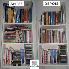 É engraçado como sempre sobram espaços agora todos os livros têm o seu devido lugar.  #ligiapessoaorganizer #personalorganizerrecife #organizacao #livros #concurso #praticidade #cadacoisaemseulugar #trabalhinhobom