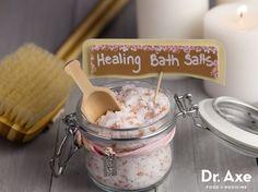 Homemade Healing Bath Salts  http://www.draxe.com #DIY #homemade #recipe #easy #natural #essentialoils
